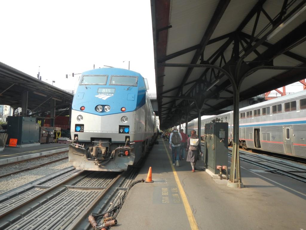 帰国時に利用した鉄道「アムトラック」。